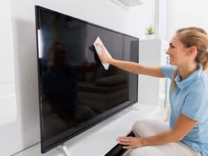 Clean Flat Screen TV